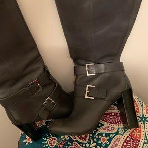 NINE WEST Gray Knee Boot (Wide calf)
